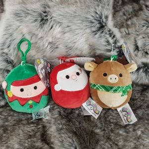 Squishmallows Lot has of Christmas Plush Key Clip